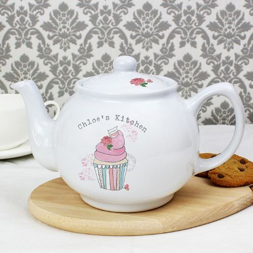Personalised Vintage Cupcake Small Teapot